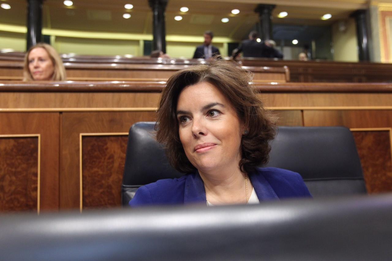Soraya Sáenz de Santamaría, vicepresidenta del Gobierno.