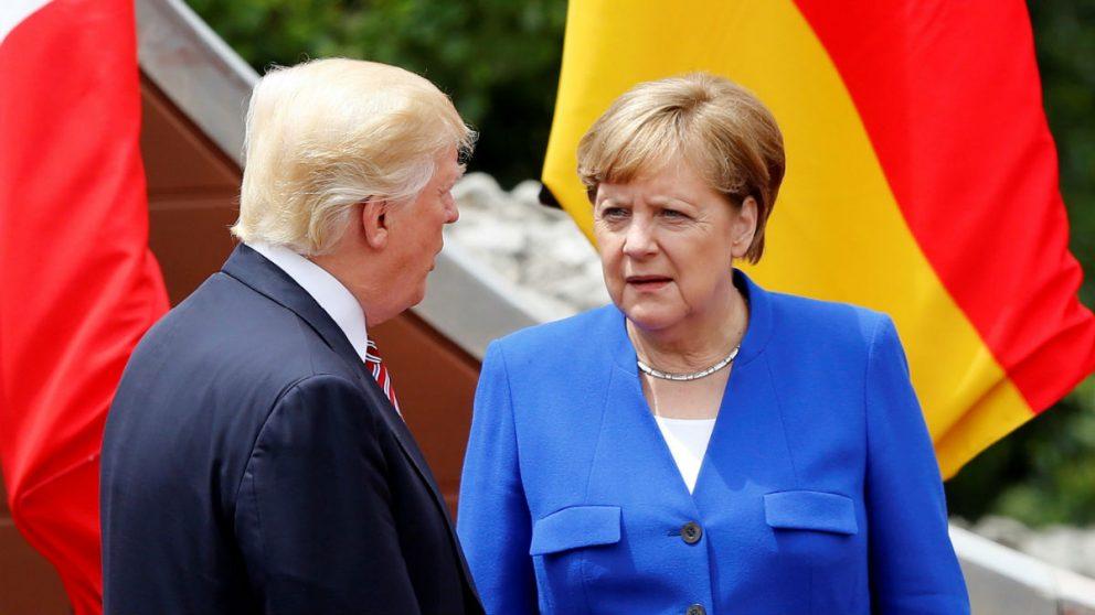 Donald Trump y Angela Merkel (Foto: GETTY).