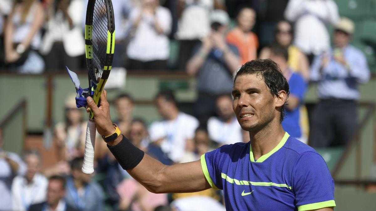 Rafa Nadal, en Roland Garros. (AFP)