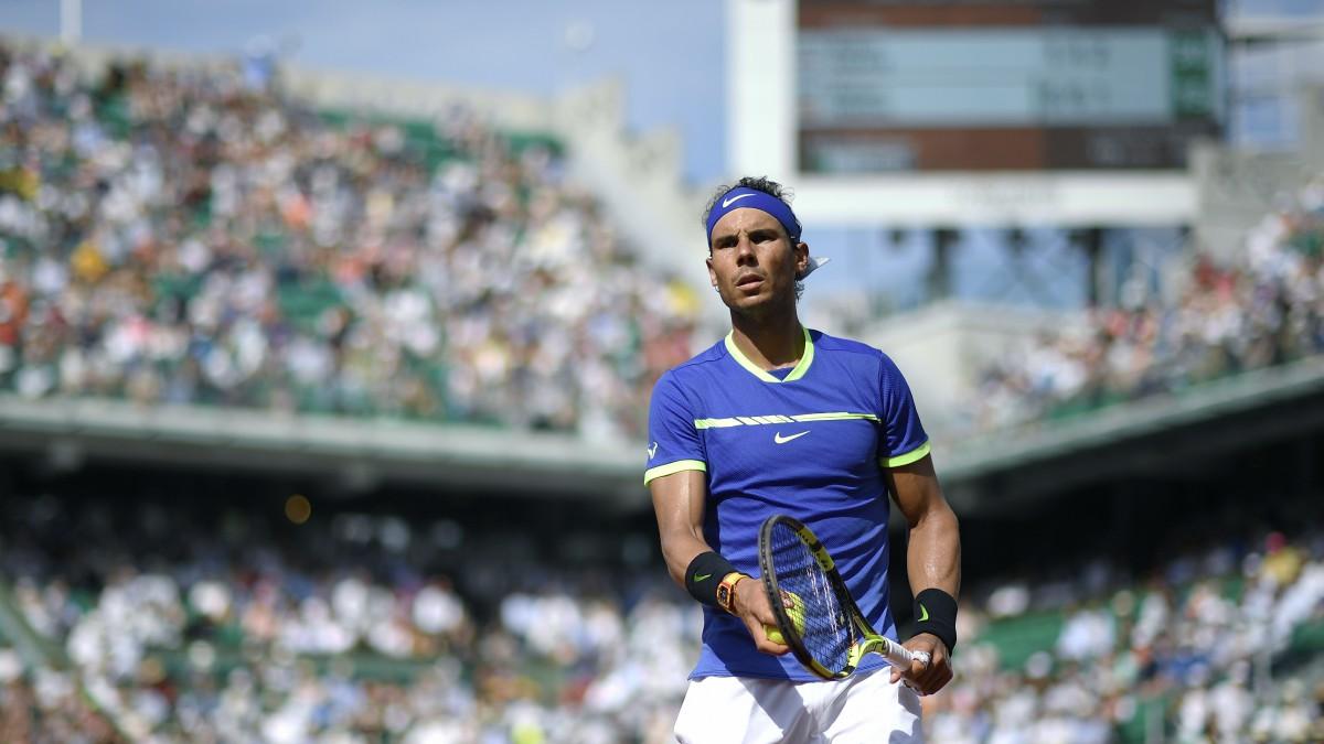 Rafael Nadal, en un partido en Roland Garros. (AFP)