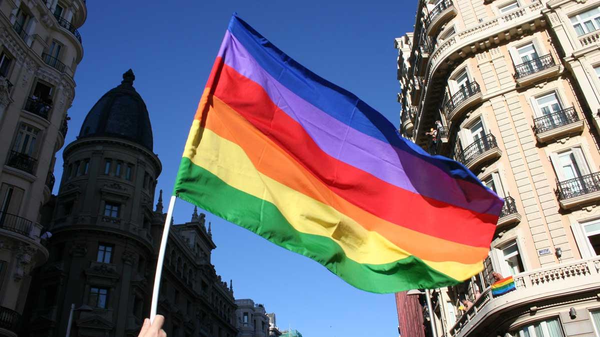 La bandera LGTBI.