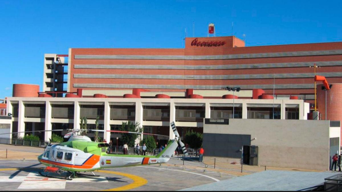 Hospital de Arrrixaca, donde está ingresada la agredida en Cehegín (Murcia).