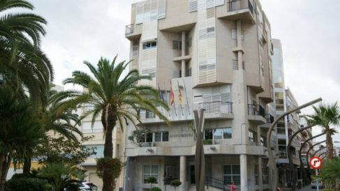 El Ayuntamiento de Torrevieja en Alicante.