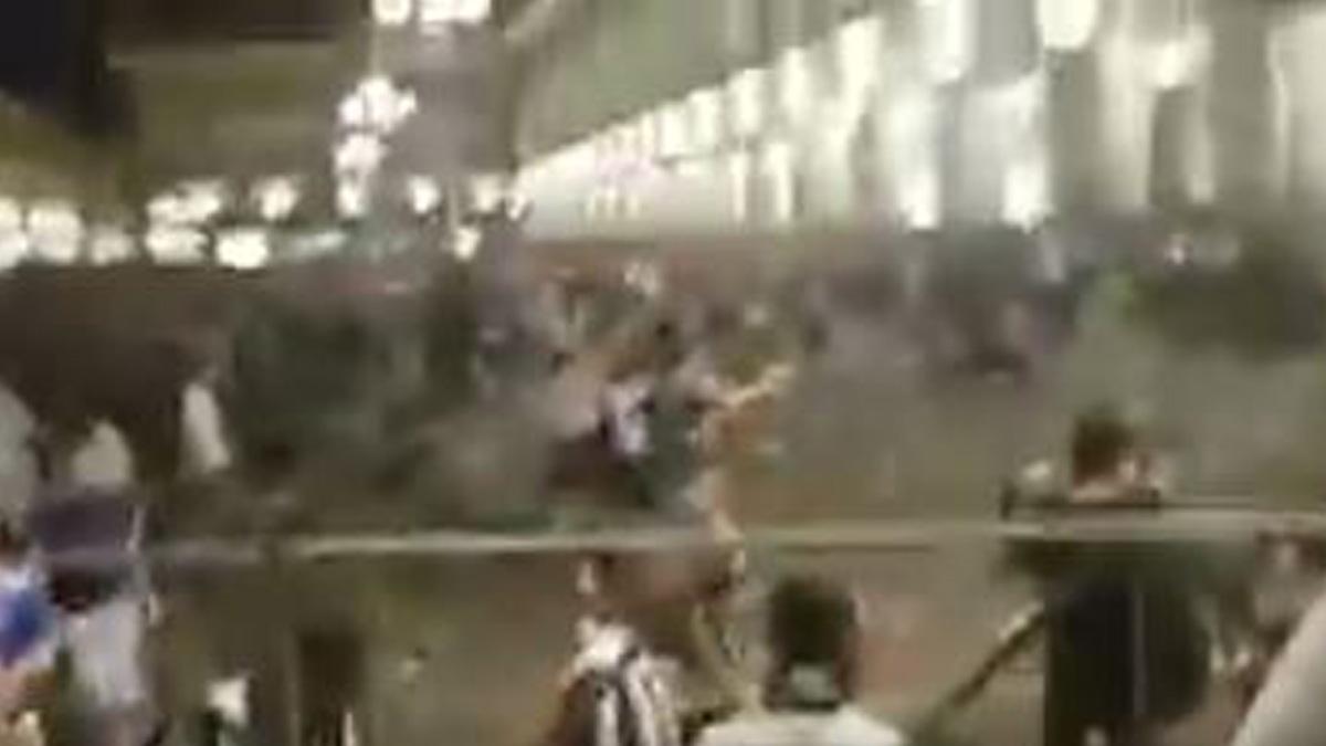 Pánico en la plaza San Carlo de Turín.