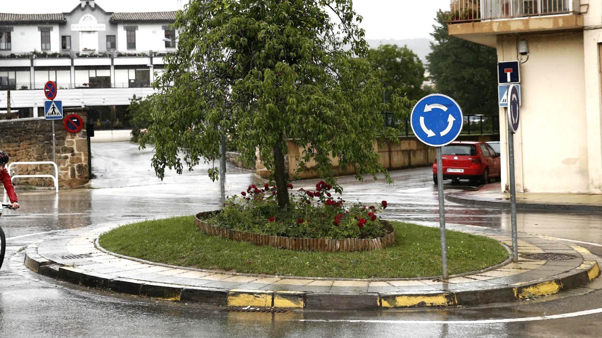 Lugar de Estella en el que se produjo el atropello mortal (Foto: Efe).