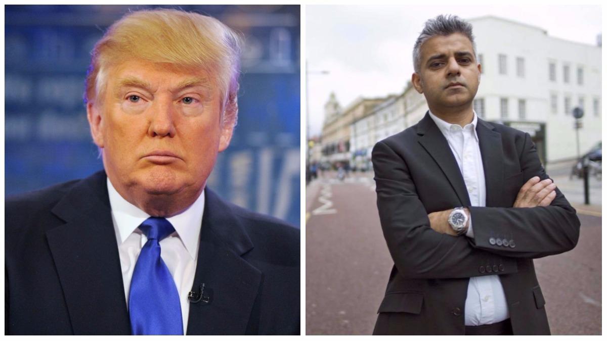 Donald Trump y Sadiq Khan.