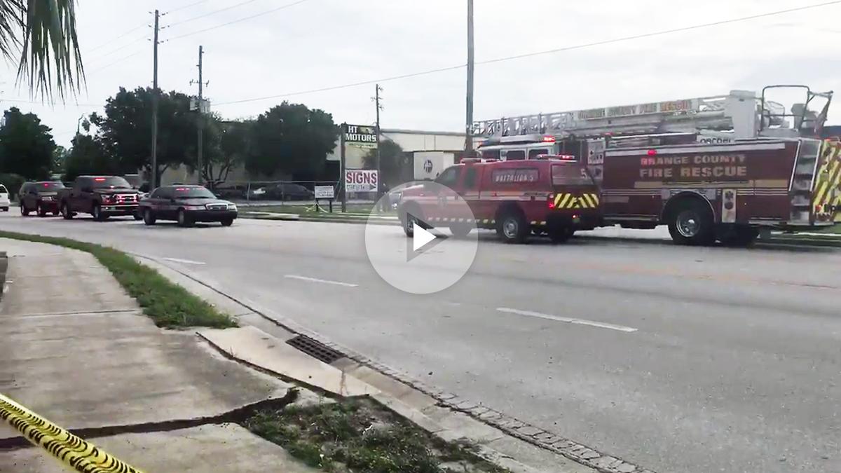 Lugar del tiroteo en un polígono empresarial de Orlando (EEUU).