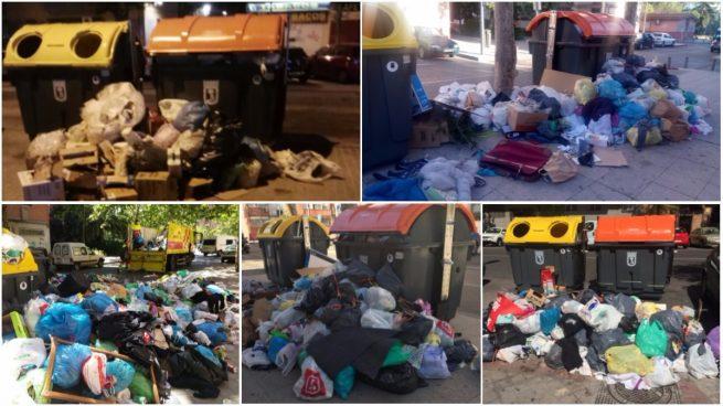Problemas con los nuevos contenedores de Carmena: montañas de basura a su alrededor