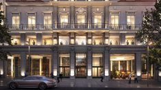 Entrada del Hotel Riu Plaza Madrid.