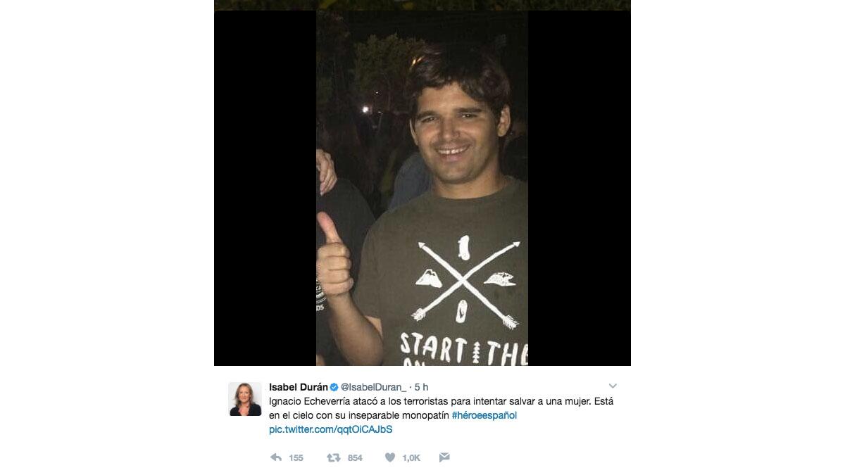 Tuit de Isabel Durán