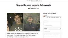 Recogida de firmas para que Ignacio Echeverría tenga una calle en Madrid.
