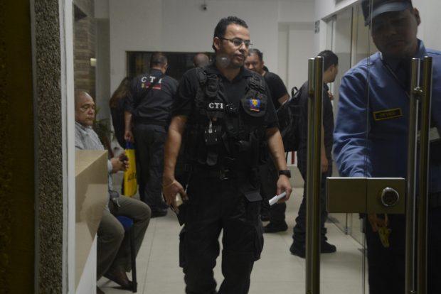 Redada en la sede de Inassa. Foto: Josefina Villarreal / Heraldo de Barranquilla