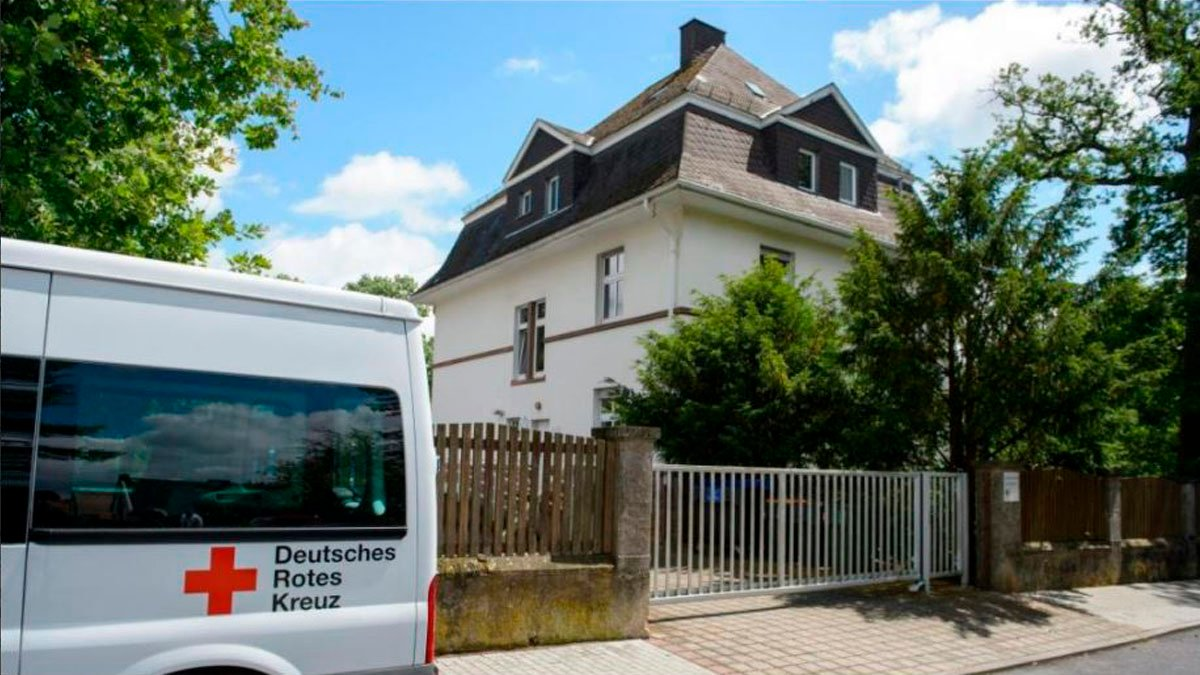 Lugar del asesinato en Saarbrücken.