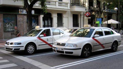 Taxistas en Madrid (Foto: Twitter)