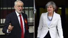 Jeremy Corbyn y Theresa May (AFP)
