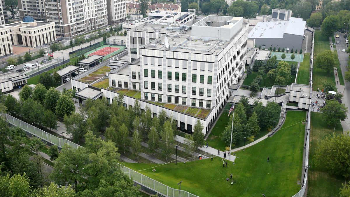 Embajada de EEUU en Kiev (Ucrania).