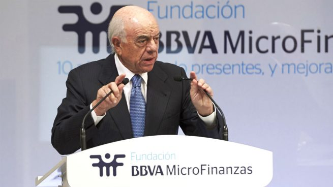El presidente de BBVA Francisco González