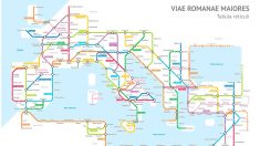 Plano de metro con calzadas romanas.
