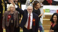 Jeremy Corbyn durante su primera comparecencia tras las elecciones (Foto: AFP)