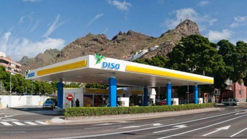 Estación de servicio del Grupo DISA.