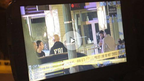 Un agente del FBI en el lugar del atropello en Washington DC. Foto: @ABC7TimBarber