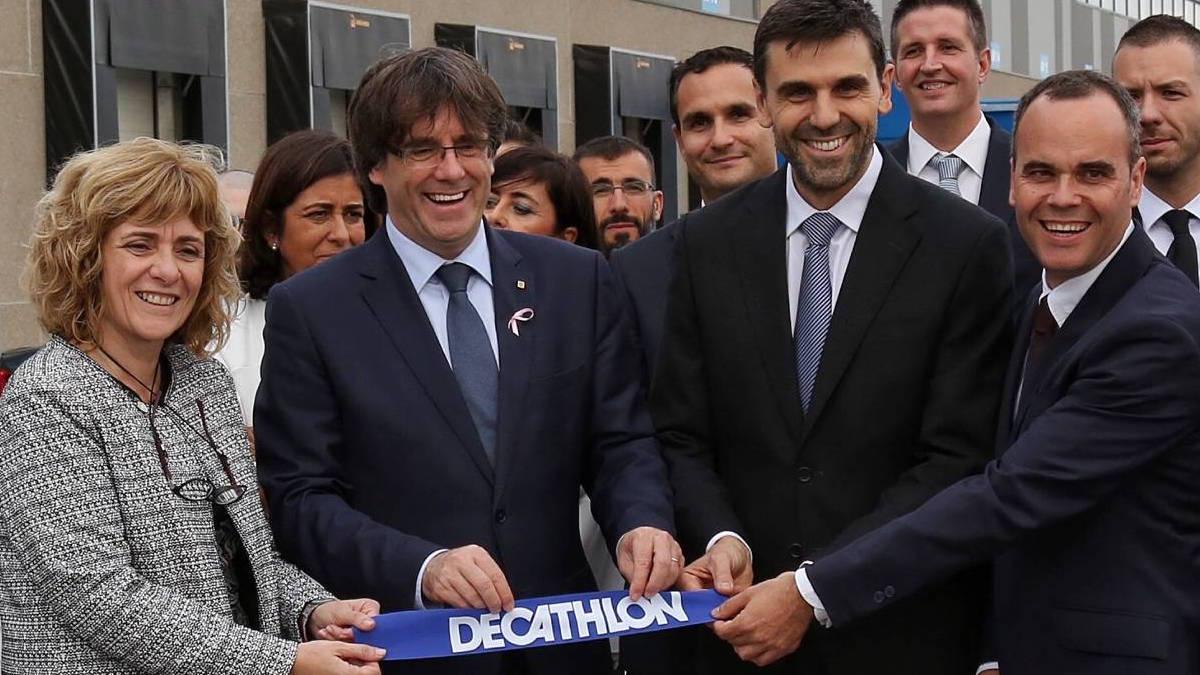 Inauguración del centro logístico de Decathlon en Cataluña.