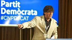 Puigdemont en el Consell Nacional del PDeCAT de este sábado (Foto: Efe).