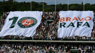 Roland Garros homenajeó a Rafa Nadal. (AFP)