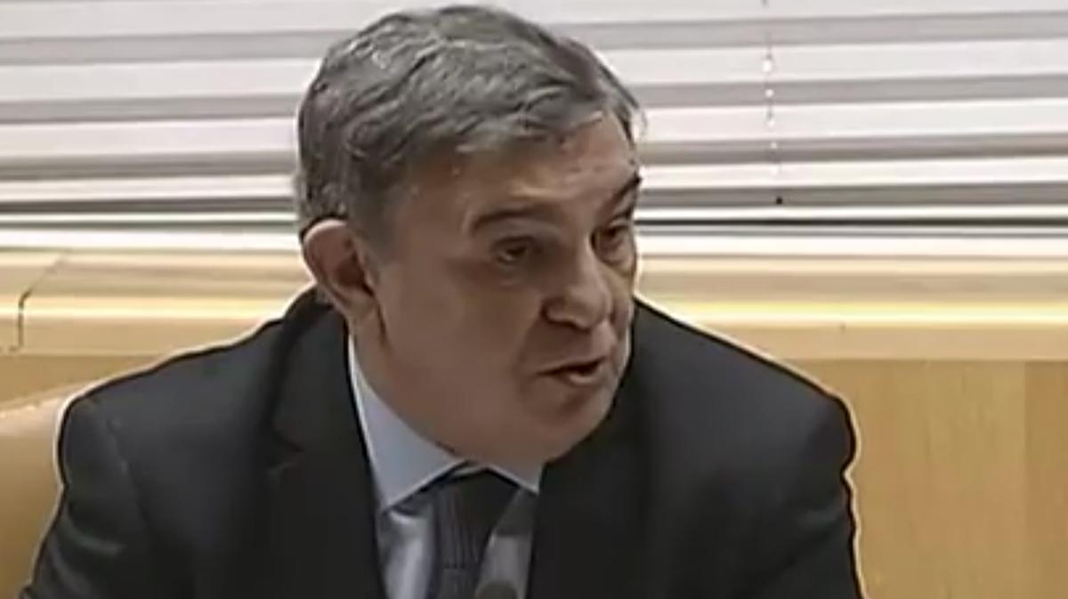 Adolfo Fernández Maestre durante su comparecencia en la comisión de investigación de la Asamblea de Madrid.