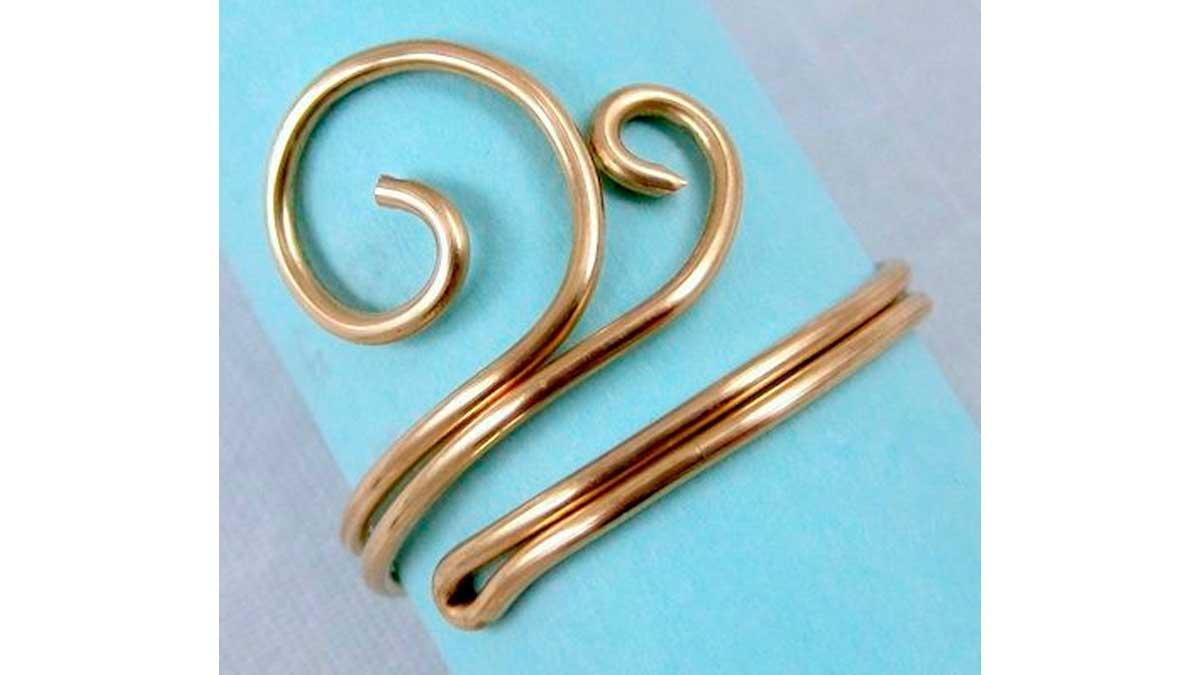 Ejemplo de un anillo de alambre sin cuencas. Pinterest