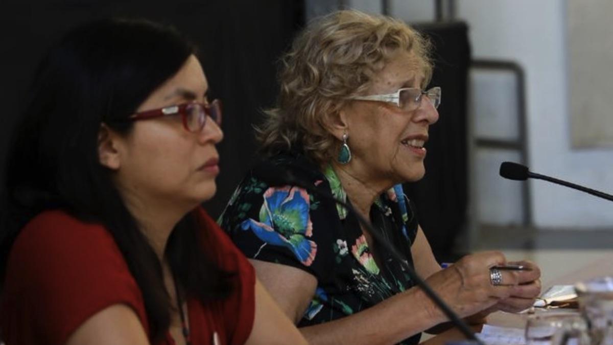 Manuela Carmena, alcaldesa de Madrid y Rommy Arce, concejal del Distrito de Usera. (Foto: Madrid)
