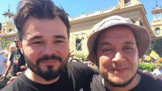 Gabriel Rufián y David Fernàndez. (Foto: Twitter)