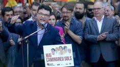 Joan Josep Nuet (SiQueEsPot), ante el TSJC por permitir el debate sobre el referéndum ilegal en el Parlament. (EFE)