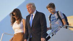 Melania, Donald y Barron Trump. (Foto: AFP)