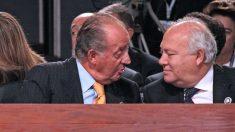 El Rey emérito Juan Carlos I y Miguel Ángel Moratinos (Foto: AFP)