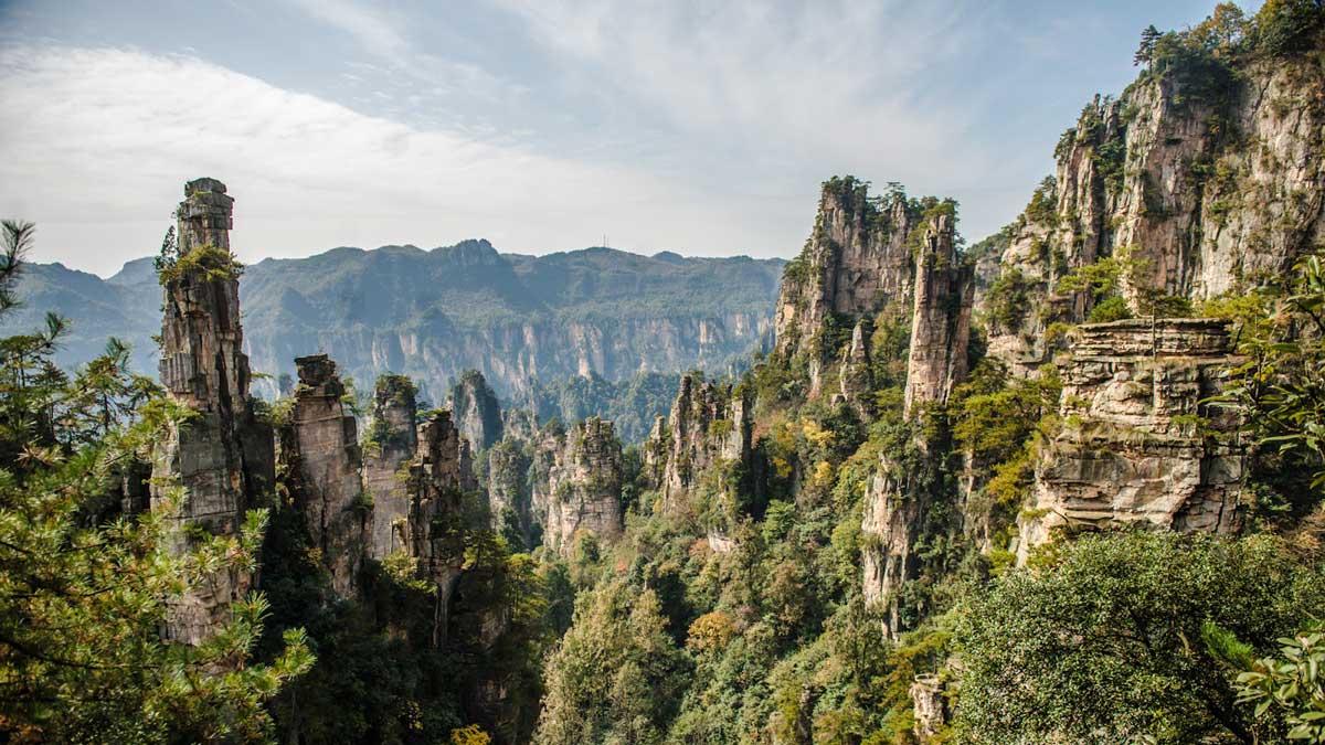Dependiendo de la altura, el paisaje kárstico muestra un aspecto diferente