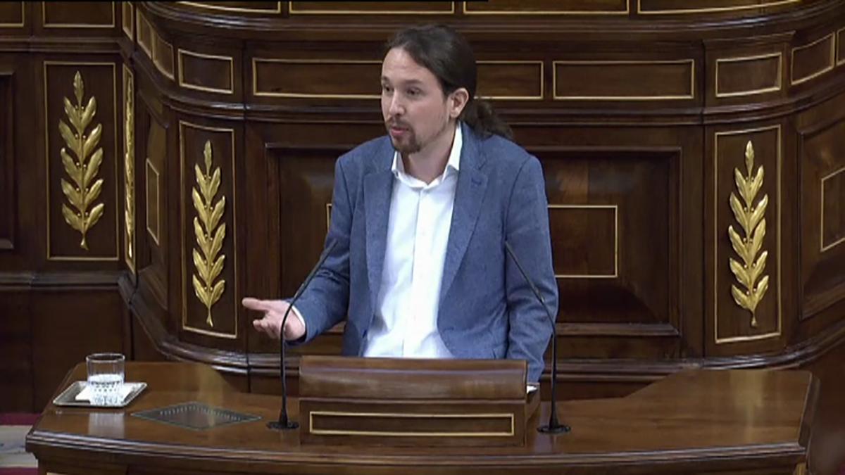 Pablo Iglesias en la moción de censura a Mariano Rajoy (Foto: Paco Toledo)