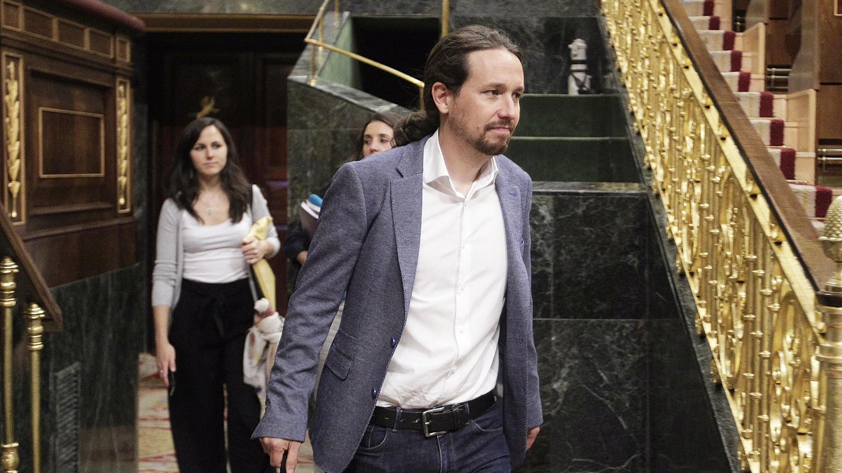Pablo Iglesias, en el Congreso. Foto: Francisco Toledo.