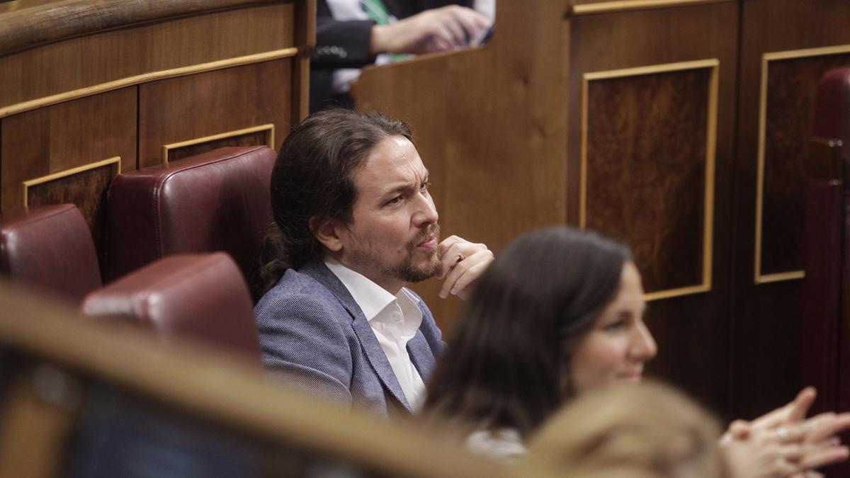 Pablo Iglesias, en el Congreso. (Foto: Francisco Toledo)