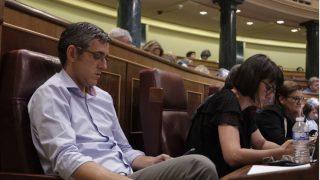 Eduardo Madina, este miércoles, en el Congreso. Foto: Francisco Toledo.