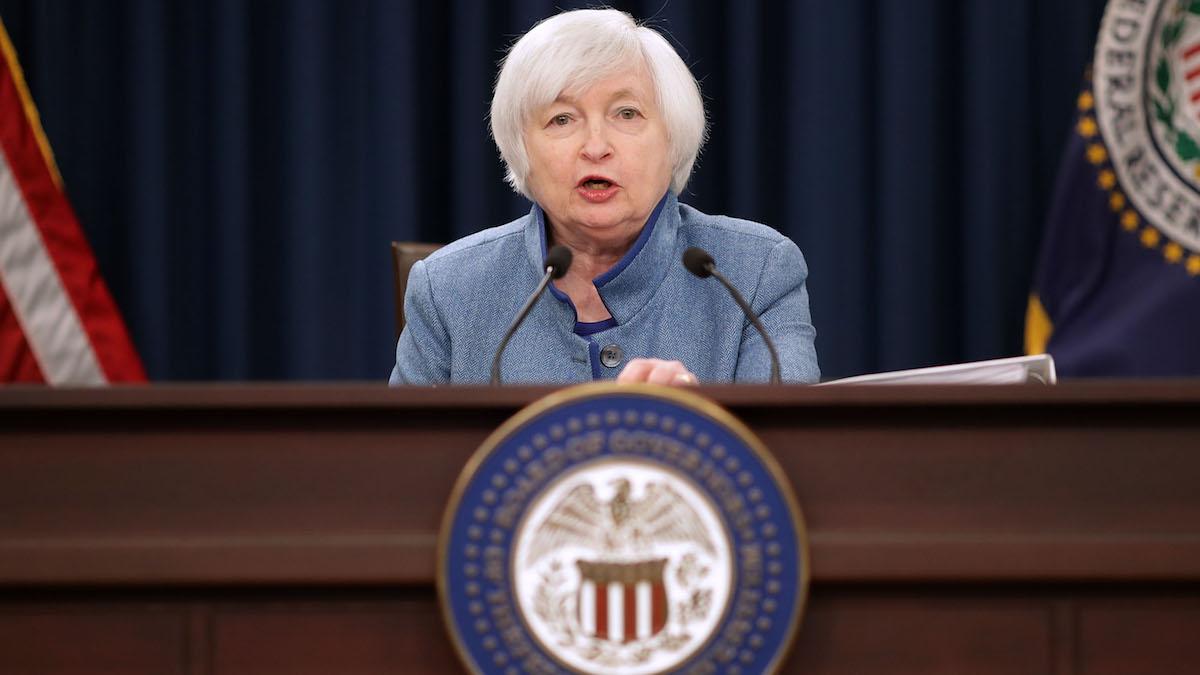 La presidenta de la Reserva Federal (FED), Janet Yellen. (Foto: Getty)