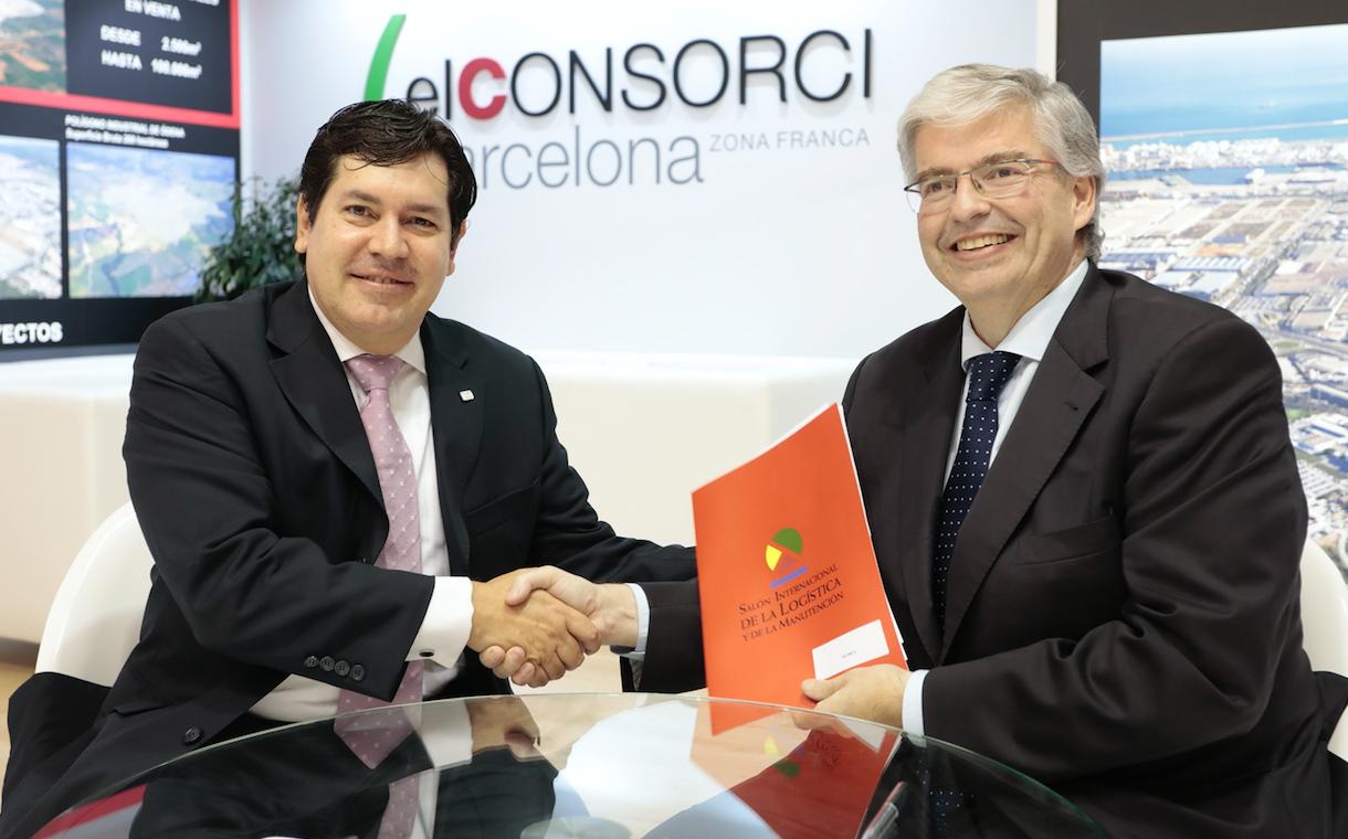 Presidente de ALACAT, Galo Molina, y el Presidente del SIL, Jordi Cornet, que tuvo lugar durante la reciente celebración del SIL 2017. (Foto: Consorci)