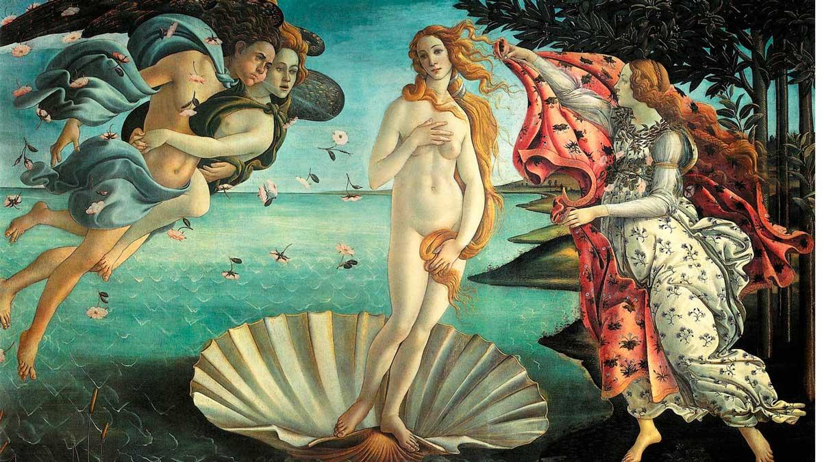 El nacimiento de Venus, de Sandro Botticelli