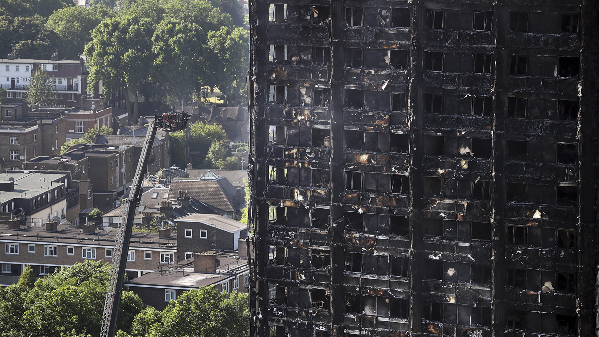 Torre Grenfell tras el incendio. (Foto: AFP)