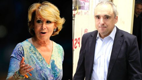 Esperanza Aguirre y Rafael Simancas.