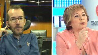 El secretario de Organización de Podemos, Pablo Echenique, y la portavoz adjunta del PP, Celia Villalobos (Foto: Antena 3)