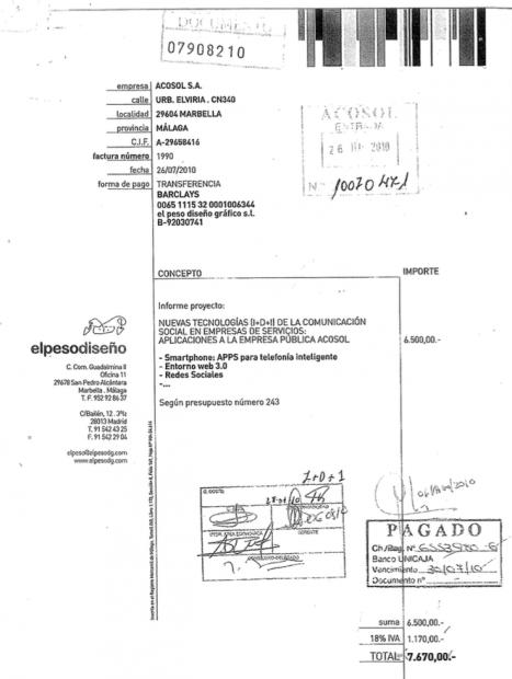 El alcalde de Marbella pagó 7.670€ por un informe copiado de Internet y lo guardó en un cajón