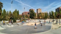 Parque de skate en Madrid Río que pasaría a denominarse Parque Ignacio Echeverría. (Foto: AM)