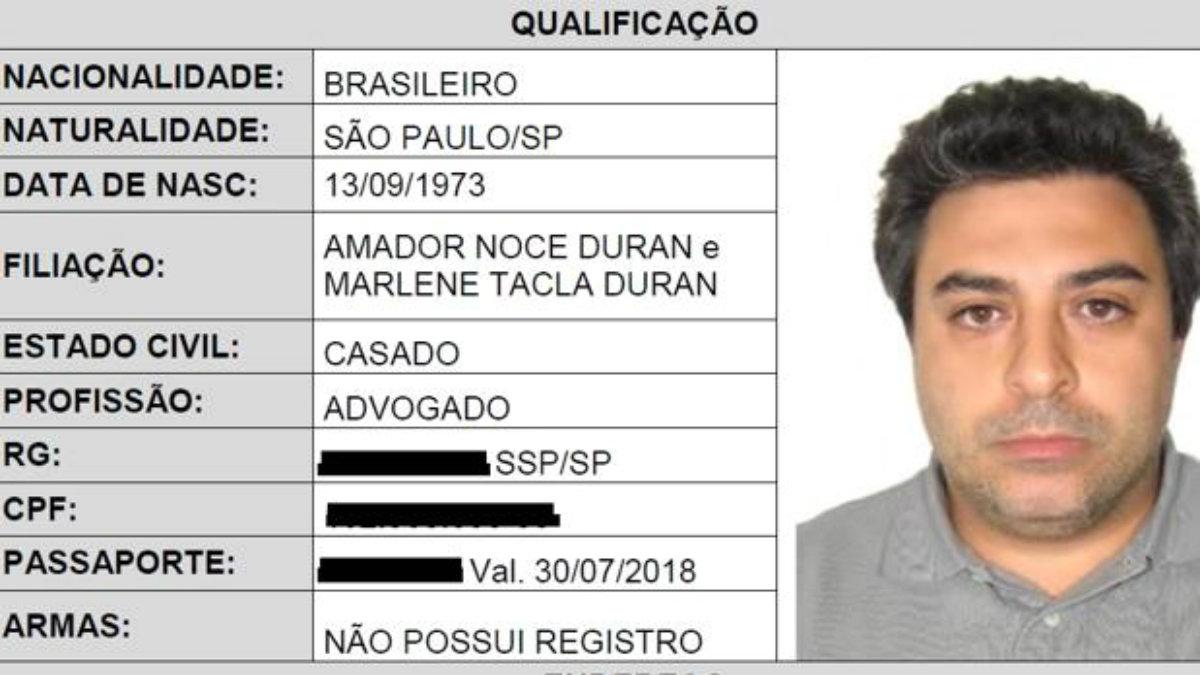 Tarjeta de identificación de Rodrigo Tacla Duran, cerebro de la corrupción en Petrobras.