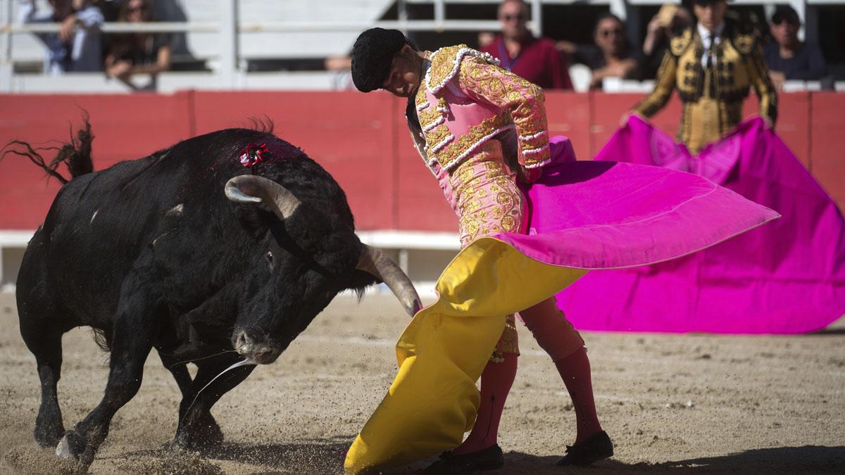 Iván Fandiño durante una faena en 2016 (Foto: AFP).